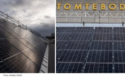 Large-scale solar panel installation now operating